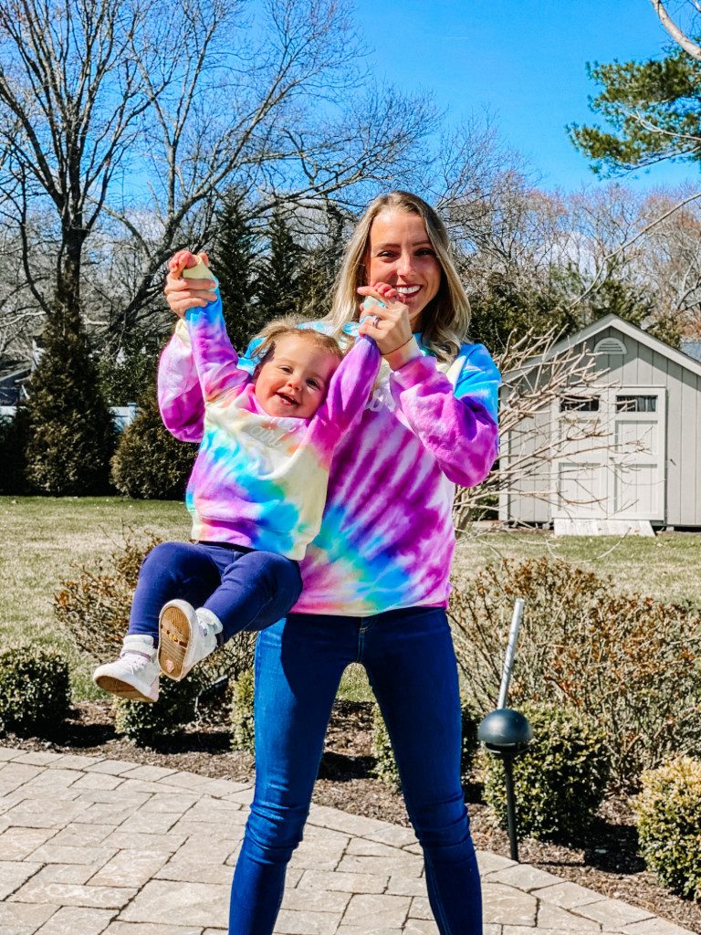mom and daughter matching tie dye- etsy
